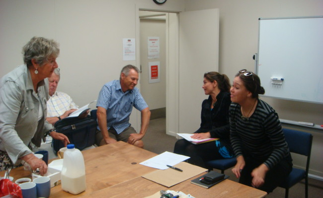 Meeting with local iwi